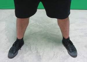 low bar squat stance width