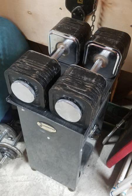 Ironmaster Dumbbells Review - 120lb Dumbbells on Dumbbell Stand