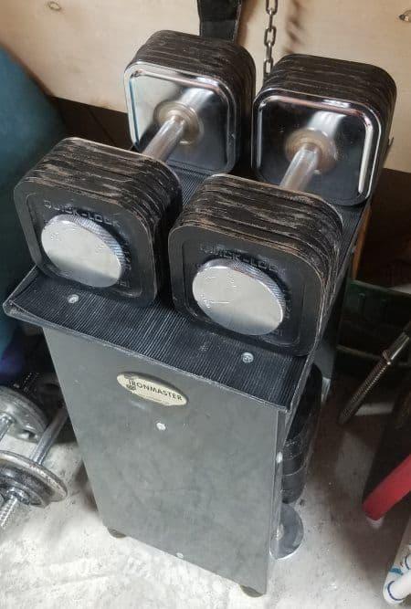 Ironmaster Dumbbells Review - 75lb Dumbbells on Dumbbell Stand