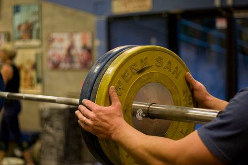 Adding weight to the bar