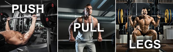 intermediate and advanced push pull legs split routine