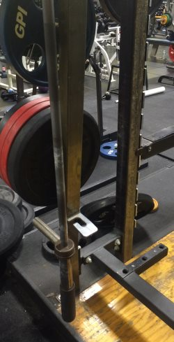 bar holder for vertical barbell storage
