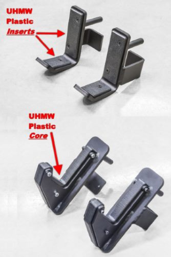 j-cups with UHMW core vs UHMW inserts