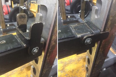 Latch-secured safety catches