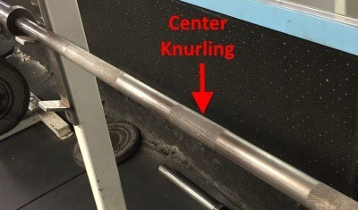 center bar knurling