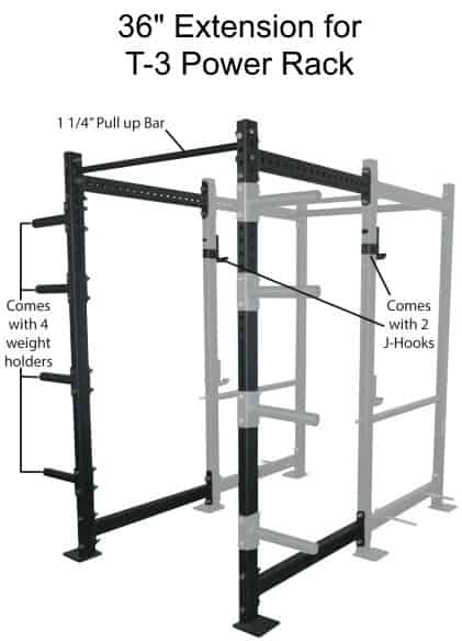 36 Inch Extension Kit For T-3 Power Rack