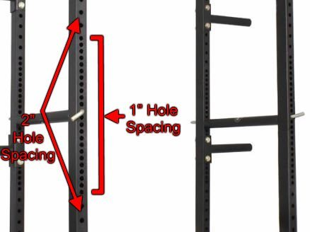 Westside Holespacing on Titan T-3 Series HD Power Rack