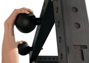 Hanging onto 5 Inch Pull Up Spheres For X-3 Power Rack