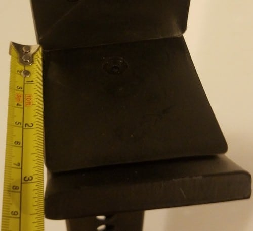 Depth Measurement of Front Portion of X-3 J-hook - Not Including Lip or Upper UHMW Plastic