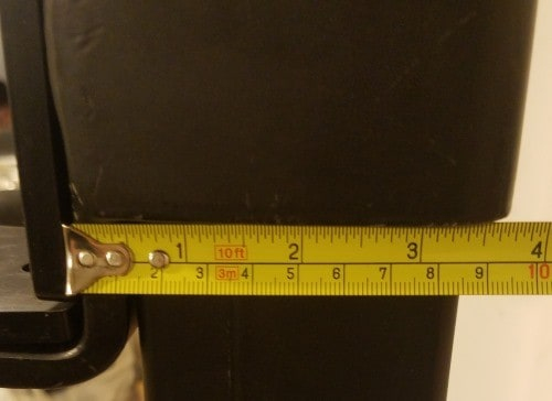 Depth Measurement of Rear Portion of X-3 J-hook - Not Including UHMW