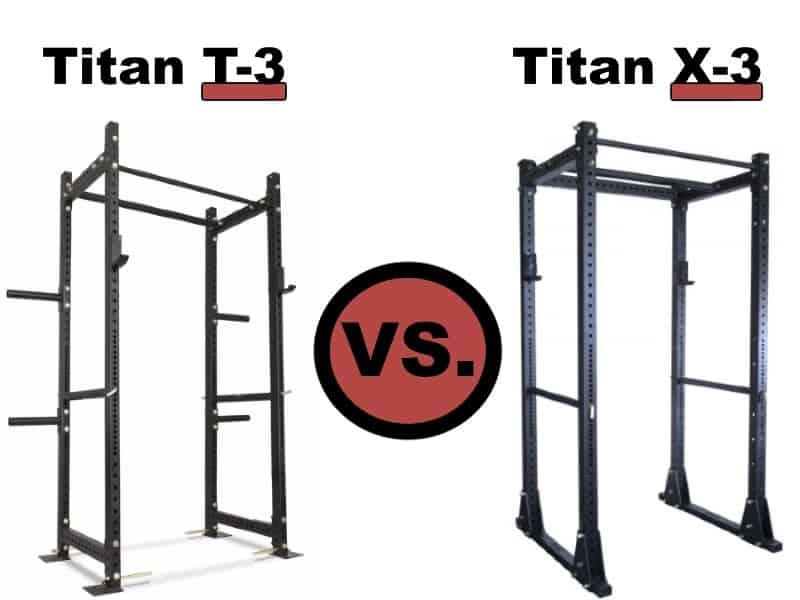 Titan T-3 Power Rack vs Titan X-3 Flat Foot Power Rack