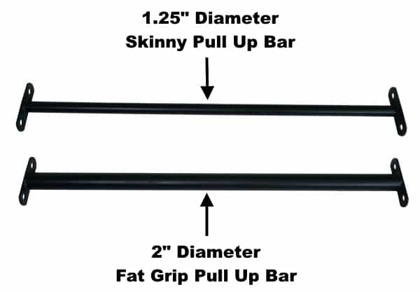 X-3 Fat Pull Up Bar vs X-3 Skinny Pull Up Bar