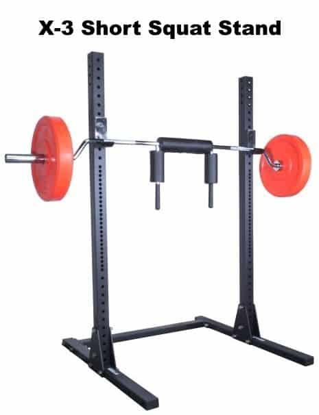X-3 Short Squat Stand - with Safety Squat Barbell