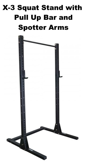 X-3 Squat Stand with Pull Up Bar