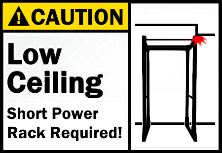 Short Power Rack for Low Ceiling