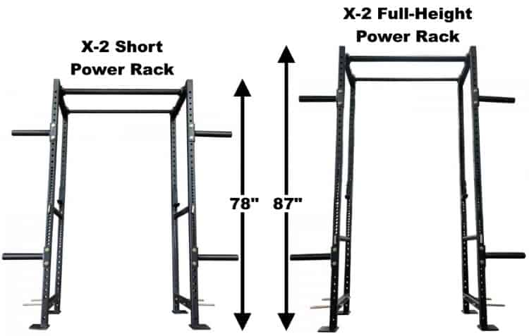 Titan X-2 Power Racks - Short and Tall Power Racks
