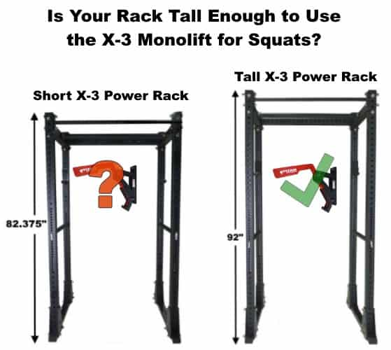 Power Rack Height for X-3 Monolift