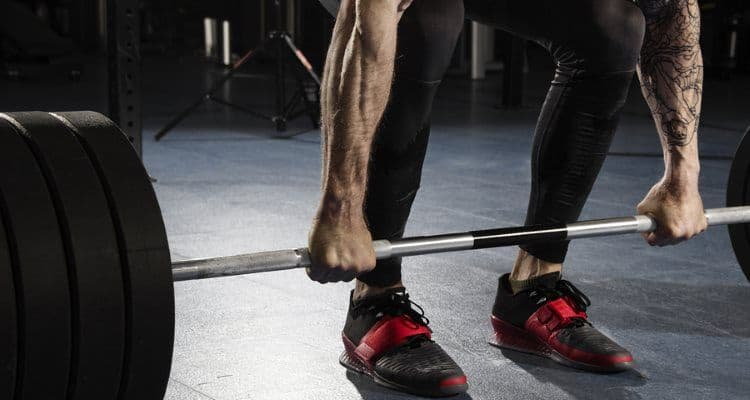 Deadlifting in Olympic Weightlifting Shoes
