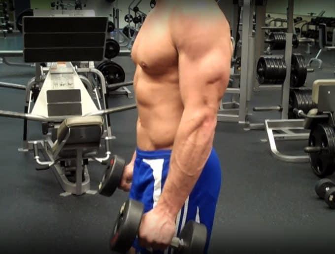 Hammer Curl Eccentric - Side View