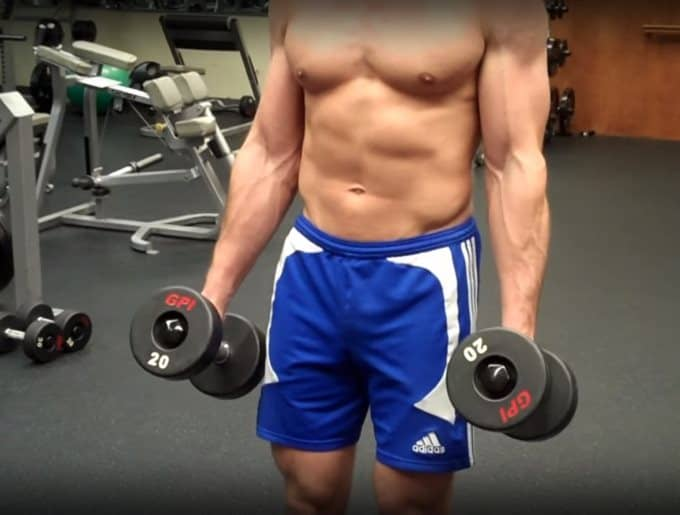 Hammer Curl Starting Position - Front View