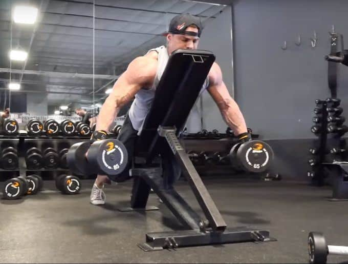 Dumbbell Rear Delt Swing - Concentric - Front
