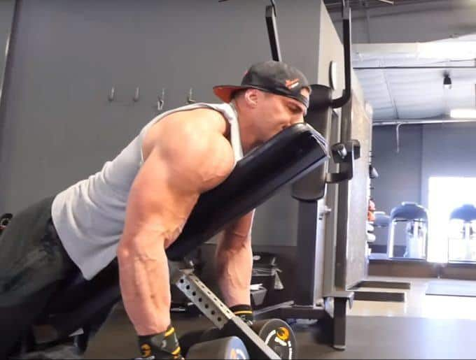 Dumbbell Rear Delt Swing - Eccentric - Side