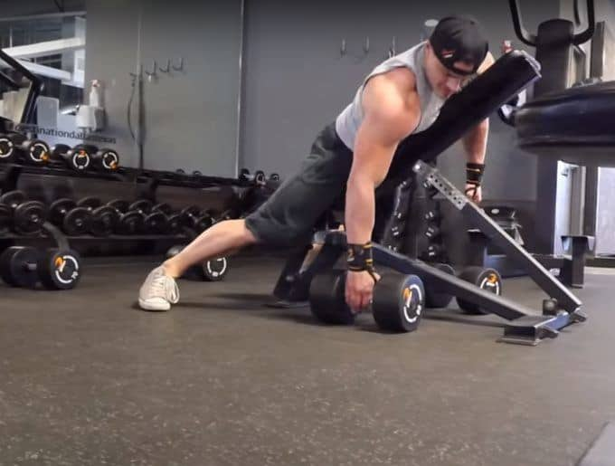 Dumbbell Rear Delt Swing - Setup - Pick Up Dumbbells