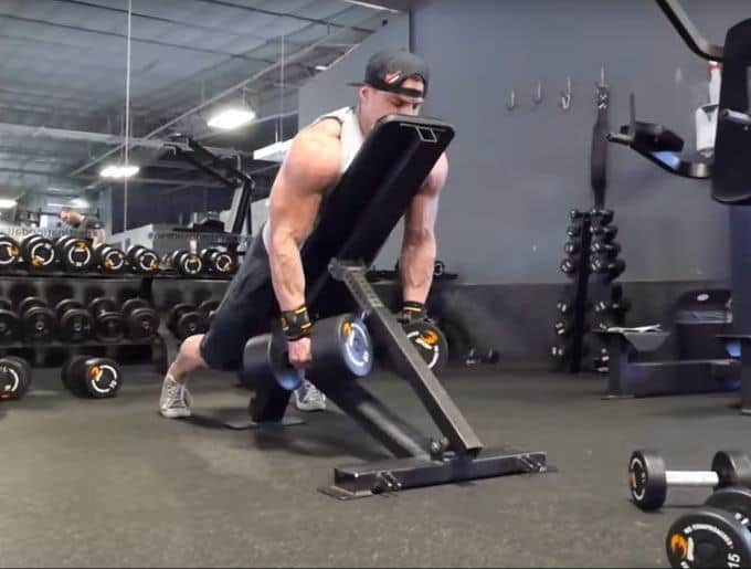 Dumbbell Rear Delt Swing - Setup - Starting Position