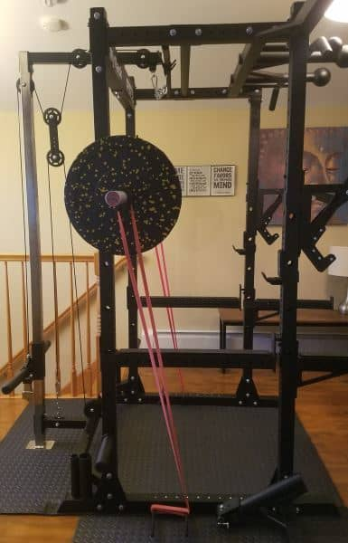 Force USA MyRack Band Pegs - Set Up for Band Squats