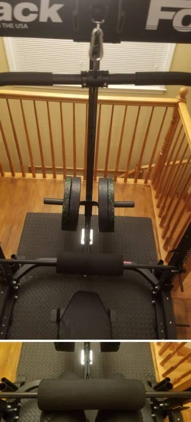 Force USA MyRack Lat Pull Down and Low Row Attachment - Performing Lat Pulldowns