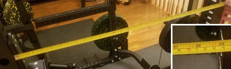 Force USA MyRack Power Rack - Internal Depth Measurement