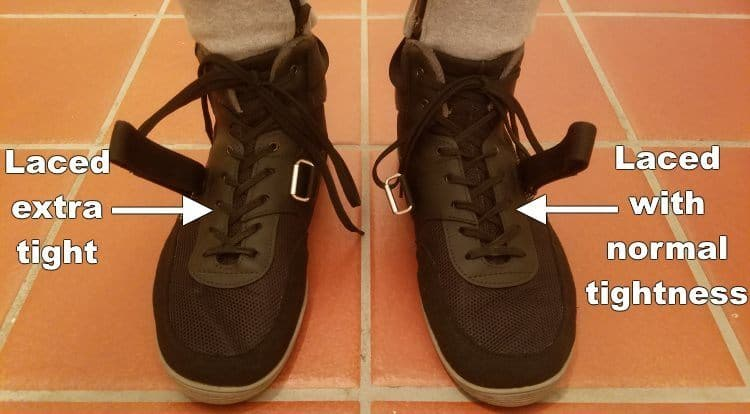 Lacing SABO Shoes with Different Amounts of Tightness