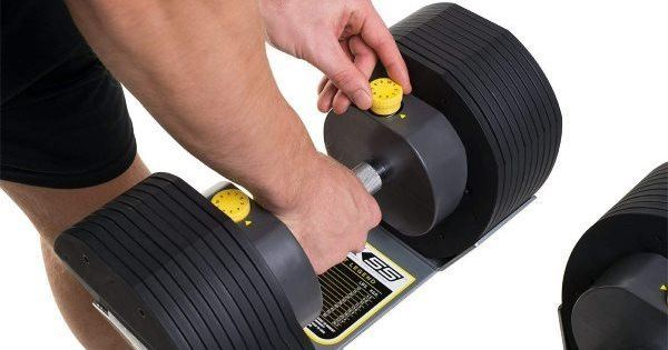 Adjusting Dial on MX Select MX55 Adjustable Dumbbells