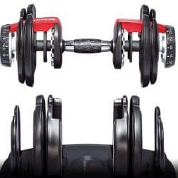 Bowflex 552 - Non-traditional Plate Position on Handle at Different Weight Settings