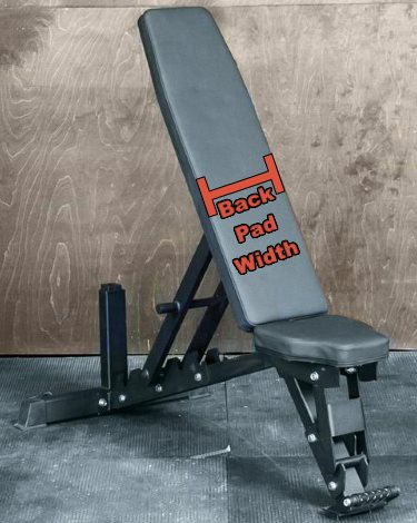 Back Pad Width - Fringe Sport Pro-Lift Incline Bench