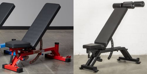 Examples of Narrow Front Feet on Adjustable Weight Benches