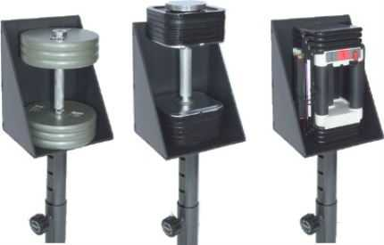 Ironmaster Dumbbell Spotting Stand Can Hold Any Dumbbell That Can Stand Vertically