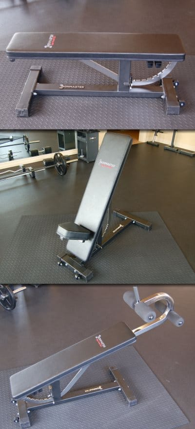 Ironmaster Super Bench Pro in Flat Incline and Decline Positions