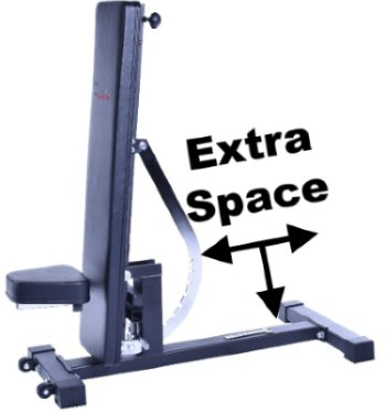 Save Space by Storing the Ironmaster Super Bench Pro in Upright Position