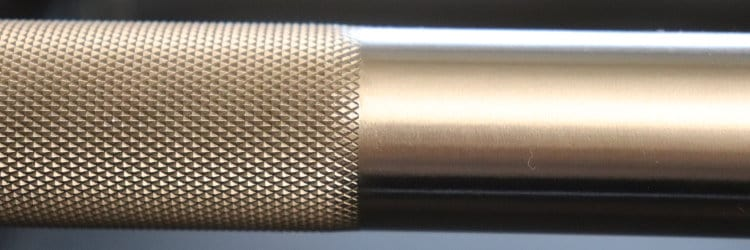 Rep Stainless Steel Deep Knurl Power Bar EX - Knurl Imperfection at Edge