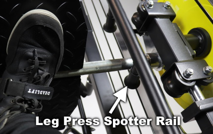 Monster G3 Vertical Leg Press Spotter Rails