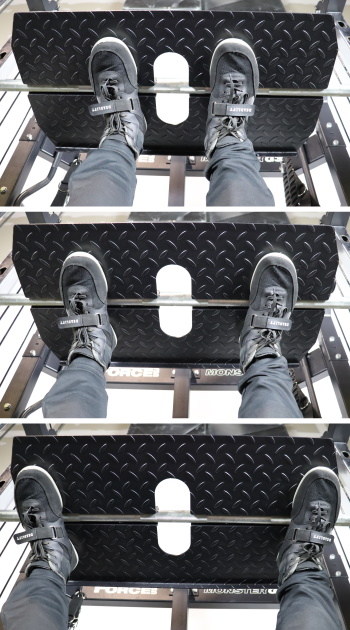 Monster G3 Vertical Leg Press Stance Widths