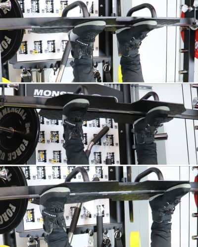 Monster G9 Leg Press Stance Widths - Narrow Medium and Wide