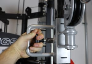 Monster G9 Single-hand Pulley Height Adjustment Mechanism