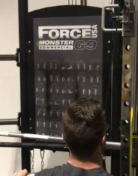 Force USA Monster G9 Updated Exercise Chart and Accessory Storage Area