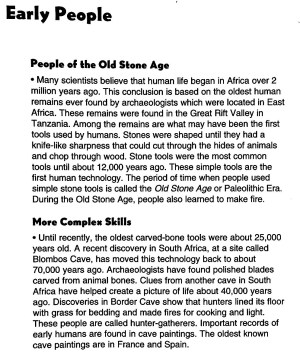 Chapter 1 Early People   Mr Proehl's Social Studies Class