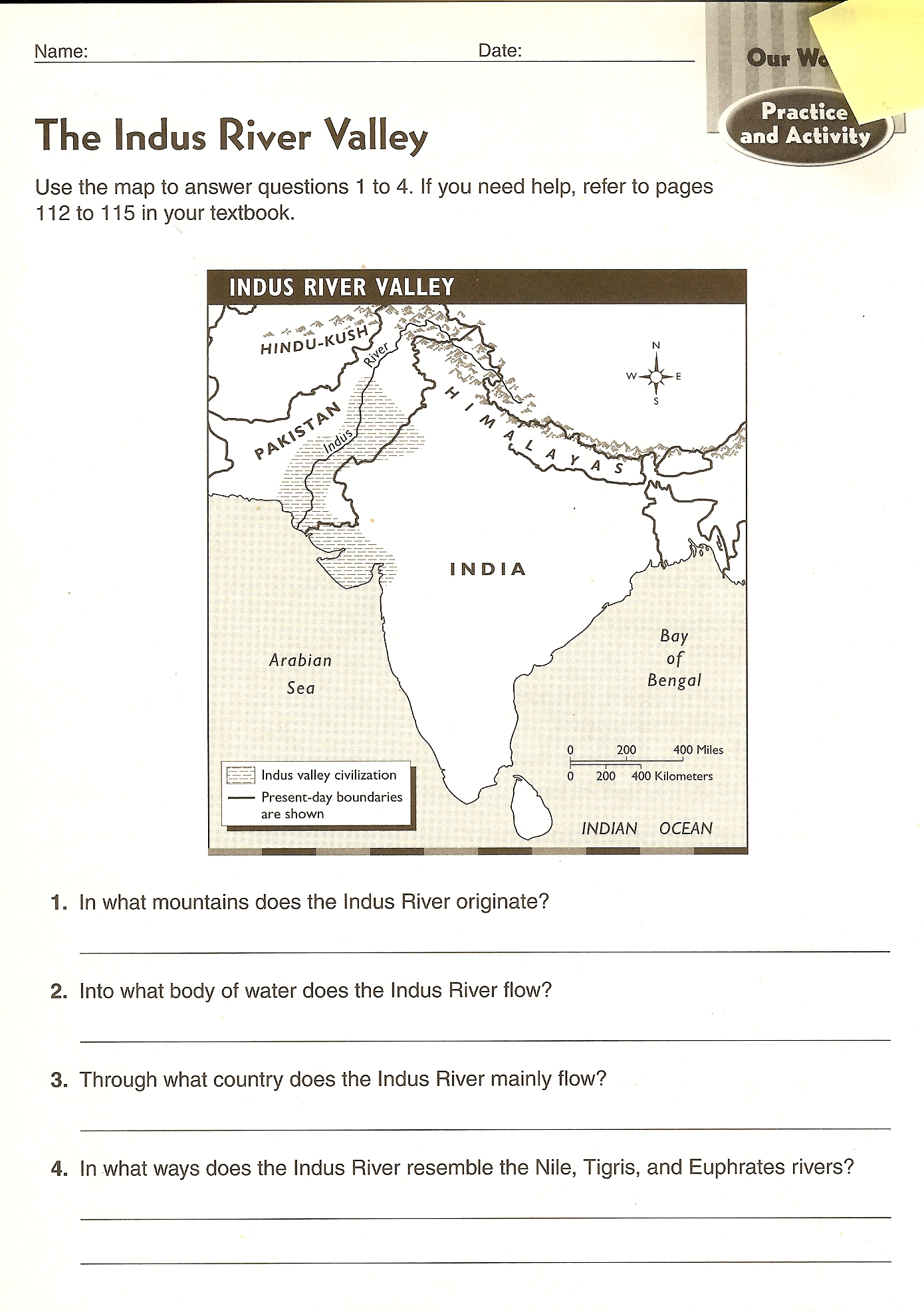 27 River Valley Civilizations Worksheet Answers