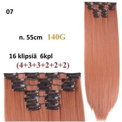 Hiusten klipsipidennykset