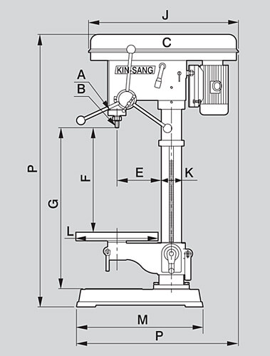 Milling Machine 2d Diagram