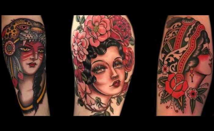 Girl Head Tattoo Kings Avenue Tattoo